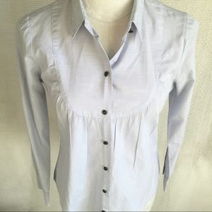 J.Crew sz S Striped Prairie Blouse